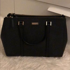 Kate Spade Double Zip Tote Satchel, Black
